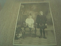 Postcard Photograph Old Undated Boy In Kilt - Anonieme Personen