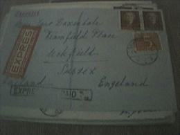 Envelope Airmail Stamped Franked 1954 Holland - Sussex Express Paid - Gebruikt