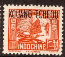 "China France P.O. 1937-41 25c ""KOWANG-TCHEOU"" Overprint MLH - Chine (1894-1922)"