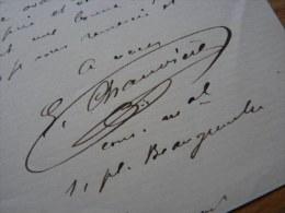Emmanuel CHAUVIERE (1850-1910) - Député De La Seine De 1893 à 1910. - Autographe - Autographs