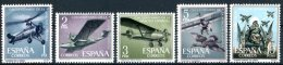 "ESPAGNE  1961   MNH  -  "" CINQUANTENAIRE AVIATION ESPAGNOLE  / OISEAU - BIRD"" -   5  VAL - Uccelli"