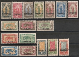 Cameroun. 1921. N° 84-100. Oblit. Et Neuf * MH - Cameroun (1915-1959)