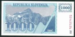 SLOVENIA . 1000 TOLARA 1990 , P-9 ,UNC - Slovénie