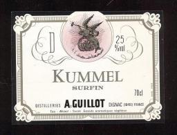 Etiquette Liqueur   -   Kummel Surfin  -  A. Guillot  à  Dignac (16) - Labels