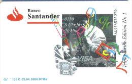 TARJETA DE ALEMANIA CON UNOS BILLETES  (BANKNOTE-BILLETE) BANCO DE SANTANDER - Sellos & Monedas