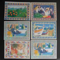 PAINTING        6 POSTAIS  - 2 Scans  -    (Nº04376) - Cartes Postales