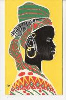 ART AFRICAIN     CARTE   DE VOEUX  ILLUSTREE - Cartes