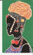 ART AFRICAIN     CARTE   DE VOEUX  ILLUSTREE - Sonstige
