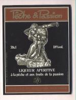 Etiquette Liqueur   -   Pêche Et Passion  -  Jos Nusbaumer  à  Steige  (67) - Labels