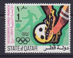 Qatar 1972 Mi. 508   1 D Olympic Games Olympische Sommerspiele, München Fussball Football MNH** - Qatar