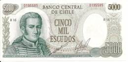 CHILI 5000 ESCUDOS ND UNC P 147 B - Chile