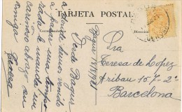 6650. Postal BAGUR (Gerona) 1921 A Barcelona - 1889-1931 Reino: Alfonso XIII