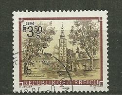 """Autriche Oblitéré ; Y & T N° 1596 ; """" Abbayes Et Monastères"""". - 1945-.... 2ème République"""