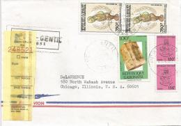 Gabon 1988 Port Gentil UNO Musical Instrument Sanza Registered Cover - Gabon (1960-...)