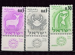 Israel ** N° 211 à 213 - Signes Du Zodiaque - Unused Stamps (with Tabs)