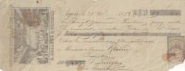 DROGUERIE CENTRALE DU SUD OUEST A JAILLE ET G THOMAS AGEN 1882 - Lettres De Change