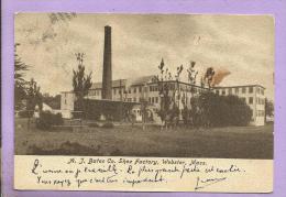 U S A - A. J. Bates Co. Shoe  Factory - WEBSTER - Mass. - 2 Scans - Vereinigte Staaten