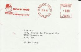 Lettre  EMA  Havas  Peche Et Froid Ponpon Rouge  Marin Metiers Thematique  62 Boulogne  30/33 - Non Classés