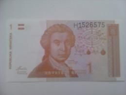Billete Croacia. 1 D. 1991. Sin Circular. - Croacia