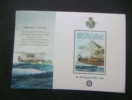 GIBRALTAR. AÑO 2008. 90º ANIVERSARIO REALES FUERZAS AEREAS. AVIÓN DE COMBATE. YVERT HB-85. SELLO NUEVO SIN SEÑAL. - Gibraltar