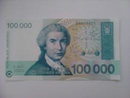 Billete Croacia. 100.000 D. 1993. Sin Circular. - Croacia