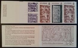 SWEDEN 1971 Gotlandska Stenmastare Stamp Booklet Containing 5 Stamps, MNH - Carnets