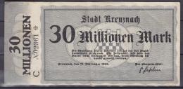 ALLEMAGNE BILLET DE NECESSITE  KREUZNACH 1923 INFLATION - Billets