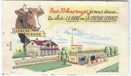 La Vache SérieuseGare Et Station Service De GROSJEANVILLE/  /Vers 1950-1960        BUV95 - Leche