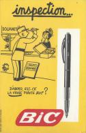 Stylo à Bille / BIC / INSPECTION/ Est-ce La Vraie Pointe  BIC ? /Vers 1950-1960        BUV96 - Papierwaren