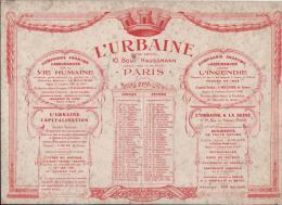 L´URBAINE/ Cie D´Assurances Sur La Vie Humaine/Buvard De Sous-main Calendrier/1928        BUV97 - Banque & Assurance