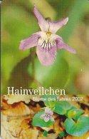 CARTE-PUCE-DEUTCH-5 DM-PD 10/02-ORCHIDEE-HAINVEILCH EN(Viola Riviniana)-TBE - Fleurs