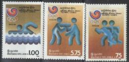 1988 Sri Lanka (ex-Ceylon) - Olympic Games Seoul 3v., Summer Olympic Seoul Swimming Boxing Handshek  Sc 885a  MNH - Zomer 1988: Seoel