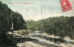 EN ROUTE TOUT VA  HOT SPRINGS  AVEC LE TRAIN VOYAGEE EN 1910 - Etats-Unis