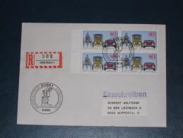 FDC Brief Deutschland Bund Einschreiben 1986 Bonn 100 Jahre Automobil Motor Auto Car Oldtimer  Ersttag - [7] République Fédérale