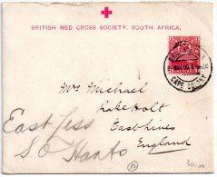 Rare Lettre Croix Rouge Anglaise En Afrique Du Sud Durant La Guerre Des Boers En 1900 - Afrique Du Sud (1961-...)