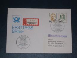 FDC Brief Deutschland Bund Einschreiben 1989 Bonn 140+300 Frauen Der Deutschen Geschichte  Ersttag - [7] Federal Republic