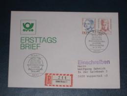 FDC Brief Deutschland Bund Einschreiben 1991 Bonn 150+200 Frauen Der Deutschen Geschichte  Ersttag - [7] Federal Republic