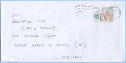 1995 PONTIDA L.1000 (SASSONE 2188) ISOLATO SU BUSTA 1.7.00 OTTIMA QUALITÀ (3130) - 6. 1946-.. Repubblica