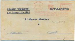 1945 BERGAMO EDITRICE I.C.A. MECCANICA 25.8.45 FASCI SCALPELLATI 0,40 TARIFFA STAMPE X AMATO ANCHE INTERESSANTE CONTENUT - 5. 1944-46 Luogotenenza & Umberto II