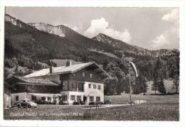 AK Unken Unweit Lofer - Gasthof Heutal Mit VW Käfer - Voitures De Tourisme
