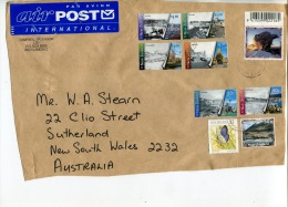 (701) New Zealand To Australia Commercial Cover - With New Zealand $ 10.00 Stamp (front Panel Only) - Unclassified