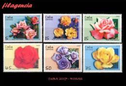 CUBA MINT. 2007-37 FLORA. ROSAS - Cuba