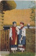 Ukrainian Girls In Costume, Postally Used In The U.S., Message, 1924. - Ukraine