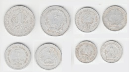 Vietnam Set Of 4 Aluminum Coins 1976 1, 2, 5 Hao & 1 Dong KM # 12, 13, 14, 15 - Vietnam
