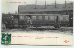 LES LOCOMOTIVES (P-L-M)  -  Voiture Automotrice (série 3 à 6), Système V. Purrey. - Trains