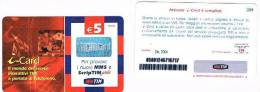 TIM   - RICARICAT 12^ ED. 6057  - CARTE SERVIZI:   I CARD SC. DIC. 2004 (CALCIO, FOOTBALL) -  NUOVA - Italia