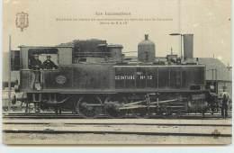 LES LOCOMOTIVES  - Machine N°12 Marchandises Sur La Ceinture. - Trains