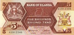 BILLET # OUGANDA # 1987 # 5 SHILLINGS # PICK 27 # BILLET NEUF # - Uganda