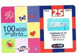 TIM  (TELECOM ITALIA MOBILE ) - CAT. RICARICAT 10^ EDIZ. 1337 - SAN VALENTINO - USATA  - RIF. CP - Italia