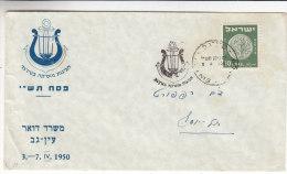 Israël - Lettre Illustrée  De 1950 - Oblitération Spéciale - Storia Postale